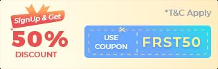 first international shipping discount