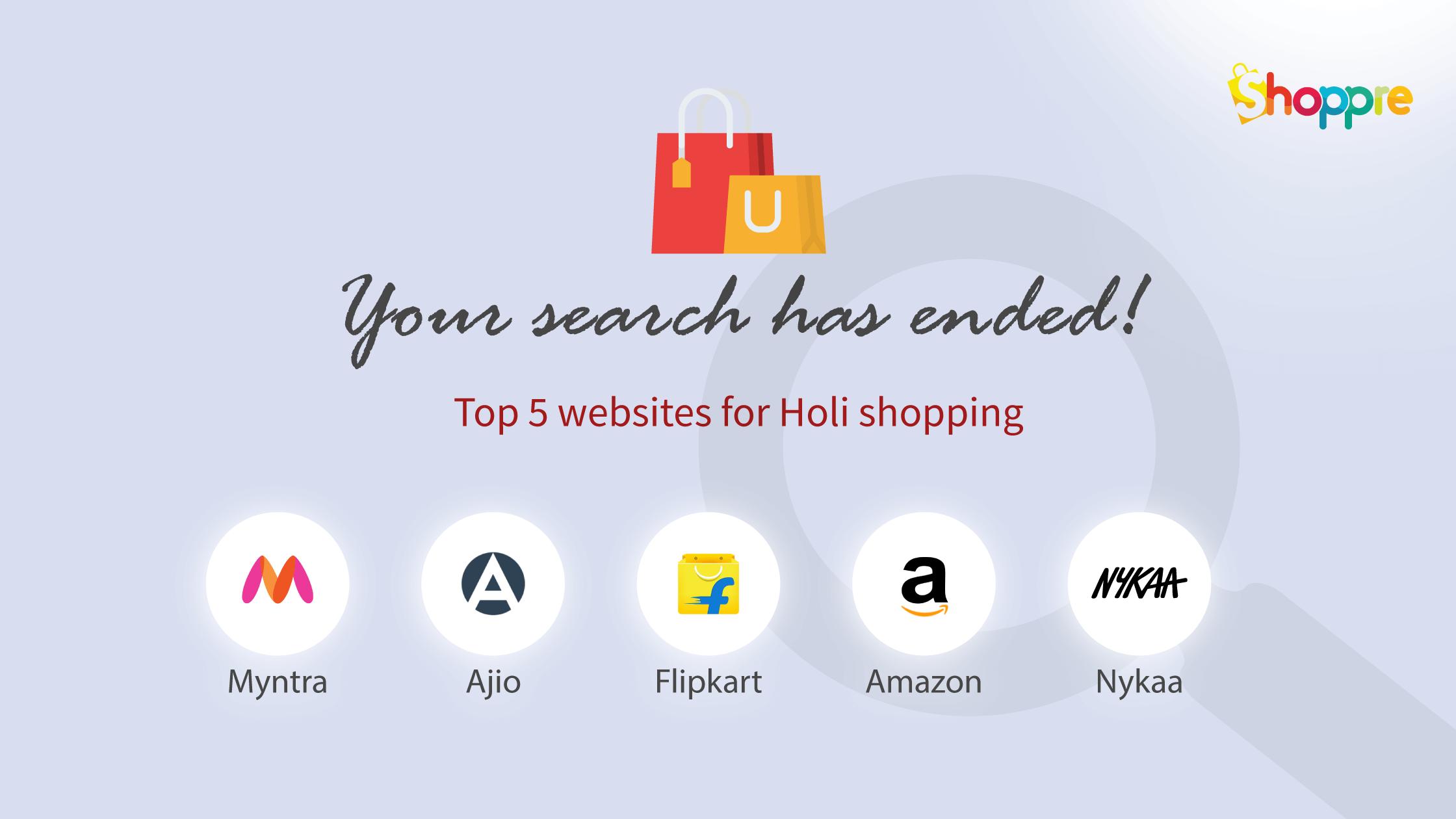 Holi shopping sites india